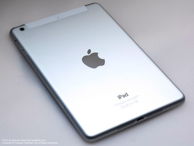 iPad mini Retina Wi-Fi + Cellularモデル 背面