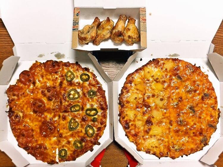 1.998円のピザ2枚のセット