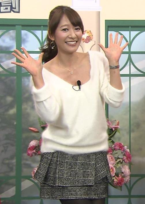 吉田明世 胸元まであいた服キャプ画像(エロ・アイコラ画像)