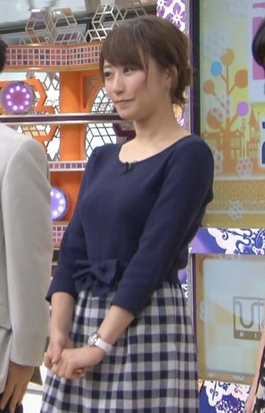枡田絵理奈 巨乳セーターキャプ画像(エロ・アイコラ画像)