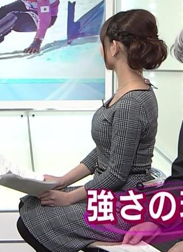 久下真以子 NHKの巨乳アナの横乳 (20140302)キャプ画像(エロ・アイコラ画像)