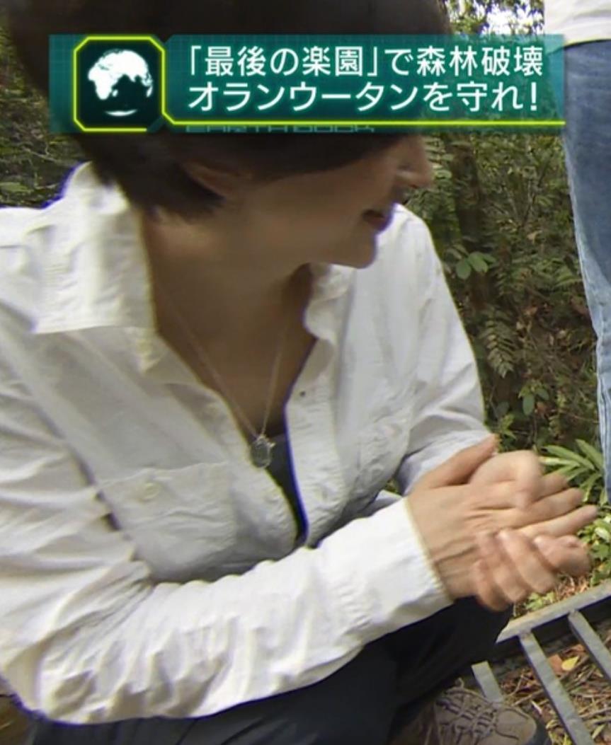 滝川クリステル 胸ちらキャプ画像(エロ・アイコラ画像)