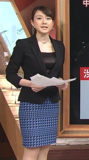 大島由香里 タイトスカートの曲線美キャプ画像(エロ・アイコラ画像)