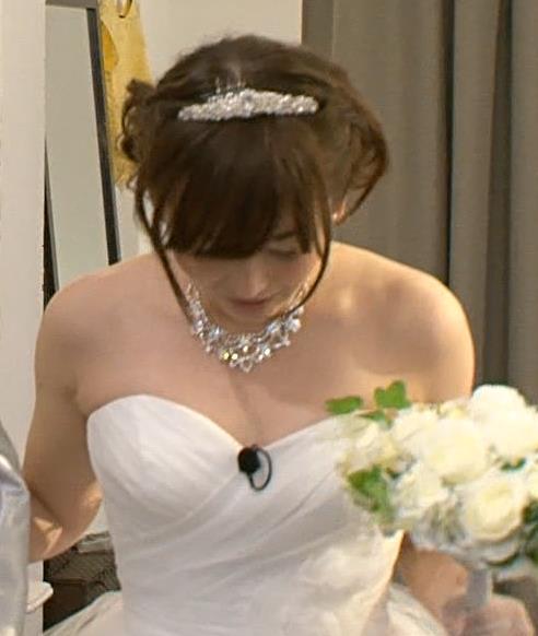 狩野恵里 ウェディングドレスキャプ画像(エロ・アイコラ画像)