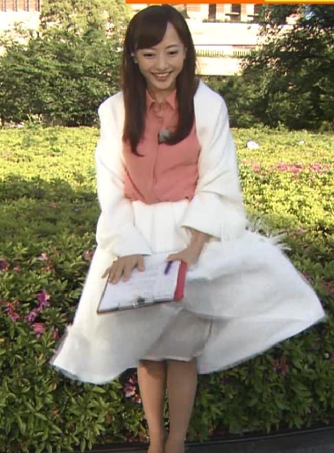 島本真衣 強風でスカートひらりキャプ画像(エロ・アイコラ画像)