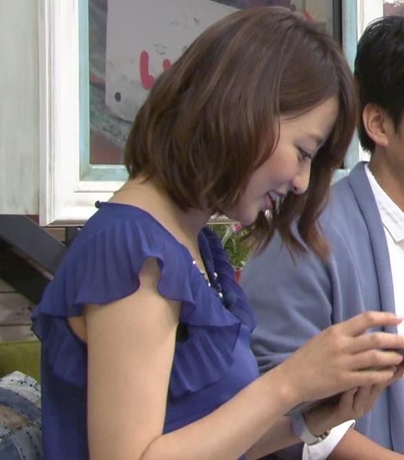 枡田絵理奈 横乳&裾から肌露出キャプ画像(エロ・アイコラ画像)