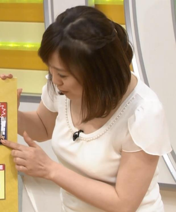 江藤愛 巨乳×Tシャツキャプ画像(エロ・アイコラ画像)