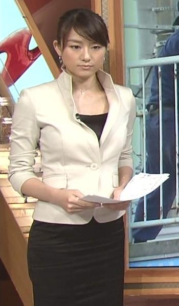 大島由香里 体のラインがわかるタイトスカート (20140718)キャプ画像(エロ・アイコラ画像)