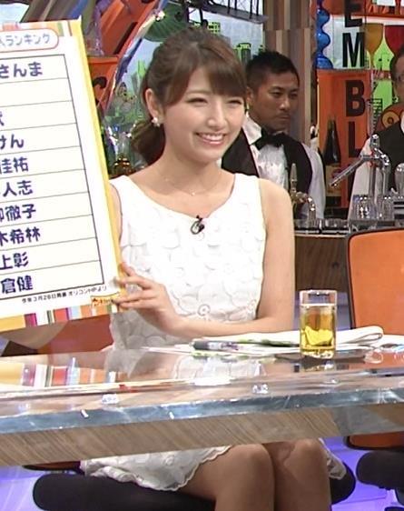 三田友梨佳 ノースリーブ・ミニスカワンピ (20140727)キャプ画像(エロ・アイコラ画像)