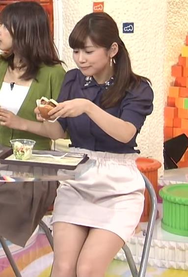 竹内友佳 ミニスカ太ももキャプ画像(エロ・アイコラ画像)