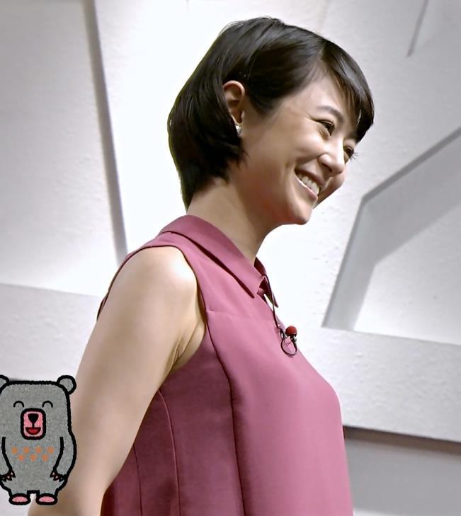 夏目三久 ノースリーブ・横乳&エロいワキ肉キャプ画像(エロ・アイコラ画像)