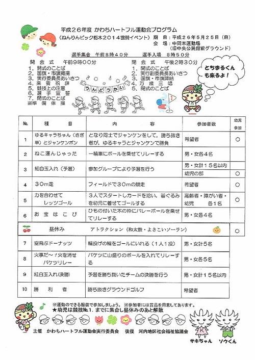 <かわちハートフル運動会>へ!②