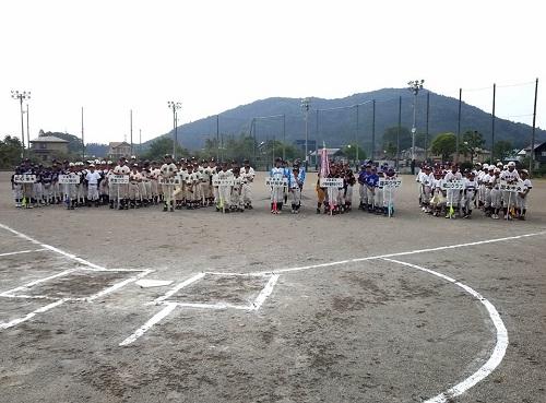 宇都宮西部地区学童軟式野球交流会<親善大会>閉会式へ!