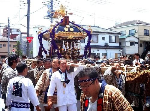 須賀神社<天王祭>神輿渡御!①