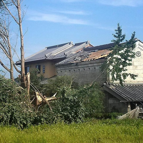 台風11号による突風被害<現地調査>へ!その1鹿沼市北赤塚町②