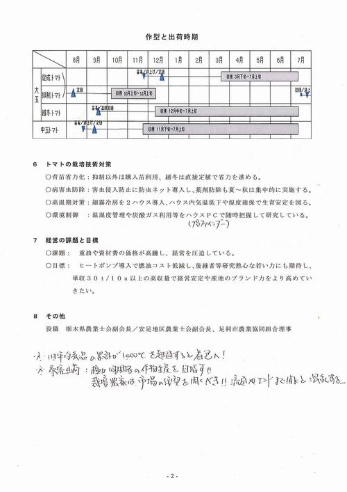 20140827【文書】栃木県議会 農林環境委員会<県内調査>16低コスト耐候性ハウス等によるトマト周年栽培02